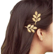 Gold Leaf Hair Pins