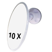 UNIQ Bathroom Mirror with Suction x10 Magnification - Weiss