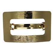 SOHO® Rectangle Metal Hair Clip, Haarspange - Gold