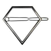 SOHO® Pyramid Metal Hair Clip -  Silber