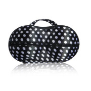 Bra bag for carrying - Black and white polka dots