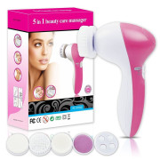 Sonic Facial Brush | Waterproof Facial Cleansing Brush 5-in-1 Set
