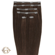 Clip on hair extensions #33 Copper brown - 7 pieces - 50 cm | Gold24