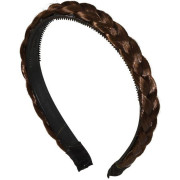 Braided Hair band - Brown