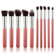 Technique Pro® Makeup Pinsel Rosa / Silber - 10 Stck.