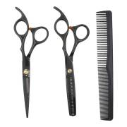 Hair Cutting Scissors Set with Hair Comb + leather case