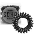 SOHO® Spiral Hair Ring Haargummis, All Black - 3 Stck.