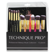 Technique PRO® Makeup Pinsel, Gold edition - 10 Stck.