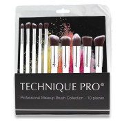 Technique PRO® Makeup Pinsel, Silver edition - 10 Stck.