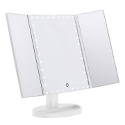Uniq Hollywood Trifold Makeup Mirror with LED Light - Weiss