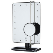 UNIQ® Hollywood Makeup Mirror with LED Light x10 Magnification - Schwarz
