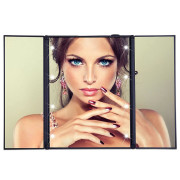 UNIQ® Vanity Tri-fold Makeup Mirror with LED Light - Schwarz
