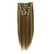 Clip In Extensions 40 cm #4/27 Dunkelblond Mix