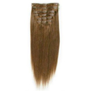 Clip In Extensions 65 cm 6# Hellbraun